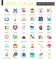 creative process complex flat icon concept vector image