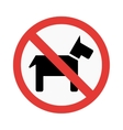 Dog prohibiting sign vector image
