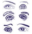 drawing eyes vector image vector image