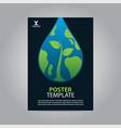 flyer brochure poster go green nature earth drop vector image vector image