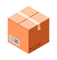 fragile cardboard box icon isometric style vector image