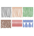 fringe trim textile fringes raw cloth edge and vector image vector image
