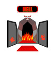 Gate to hell Entrance to hellish Inferno Access to vector image vector image