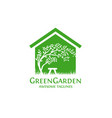 green garden house vector image