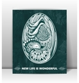happy birthday greeting card with embryo in the vector image vector image