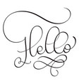hello word on white background hand drawn vector image vector image