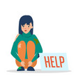 help for homeless web banner design poor vector image vector image
