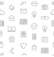 line blog icons pattern or background vector image