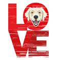 love golden retriever vector image vector image