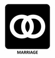 marriage symbol vector image
