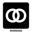 marriage symbol vector image