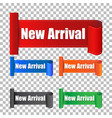 new arrival sticker label on isolated background vector image vector image