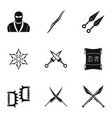 old weapons icons set simple style vector image