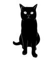 one black cat is sitting simplified black vector image vector image