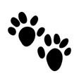 otter footprint vector image vector image