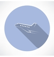 passenger plane icon vector image vector image