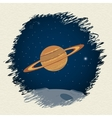 Planet in space background vector image vector image