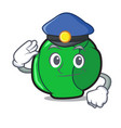 police brussels character cartoon style vector image vector image
