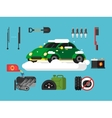 Preparing car to winter vector image vector image