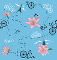 retro bike seamless pattern vector image vector image