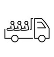 safety carriage of passengers in van truck line vector image