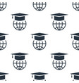 seamless graduation cap pattern education symbol vector image vector image