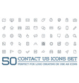 Set of Contact us Service Elements and Assistance vector image vector image