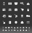 Shipment icons on gray background vector image vector image