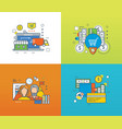 shop protection and types of payment workflow vector image vector image