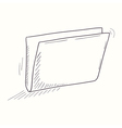 Sketched empty folder desktop icon vector image