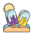 summer popsicles cartoon vector image