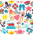summer vacation travel pattern design vector image vector image