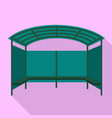 tent bus station icon flat style vector image vector image
