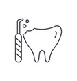 treatment of caries line icon concept treatment vector image vector image
