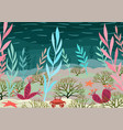 underwater nature background vector image vector image