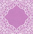 Vintage lace invitation card vector image vector image
