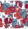 Vintage Seamless Background Tropical Fruit vector image