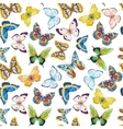 Watercolor butterfly pattern vector image vector image