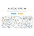 website banner and landing page meat vector image