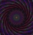 Wired fractal spiral design vector image vector image