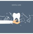 with hand and tooth Flat vector image vector image