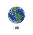 world globe icon isolated on white background vector image vector image