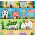 Cute houses castles and establishments design vector image