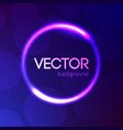 abstract bright light circle template vector image