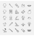 Dental clinic line icons vector image