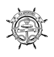 Sea adventures Coast guard Anchor with rope and vector image