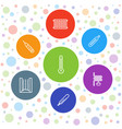 7 temperature icons vector image vector image