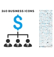Banker Links Icon with Flat Set vector image vector image