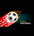 banner on a dark background the soccer ball flies vector image