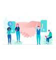 business agreement - flat design style colorful vector image vector image